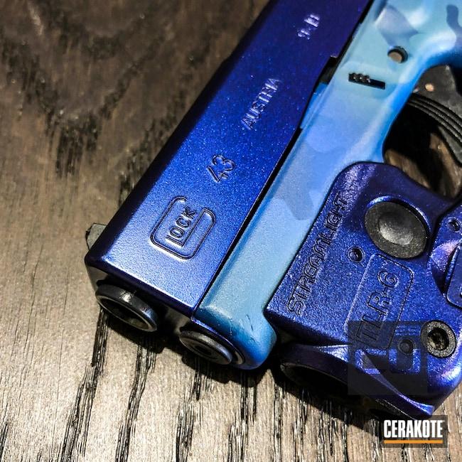 Cerakoted: MultiCam,Supersonic,Armor Black H-190,Pistol,KEL-TEC® NAVY BLUE H-127,Blue MultiCam,Handguns,Glock 43,GunCandy