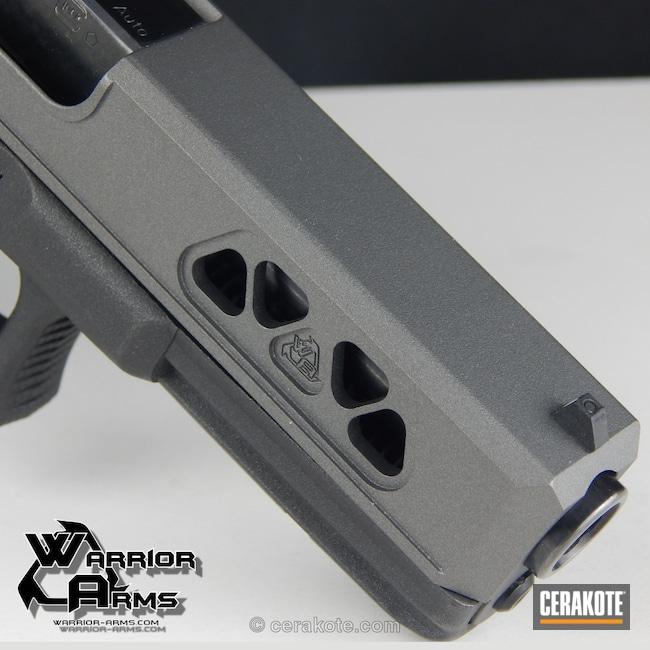 Cerakoted: Custom Machined,Custom,Tungsten H-237,Pistol,Glock,Machined Slide