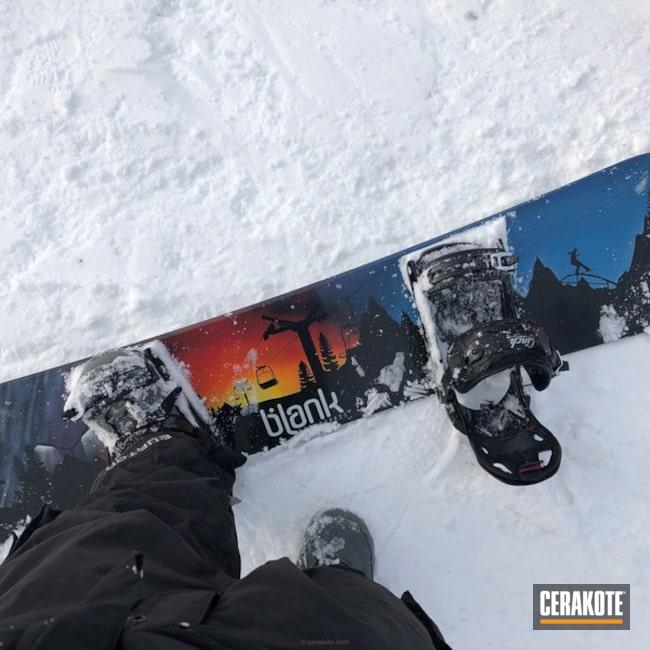 Cerakoted: blank,Graphite Black H-146,snowboard,USMC Red H-167,More Than Guns,winter sports,Sky Blue H-169