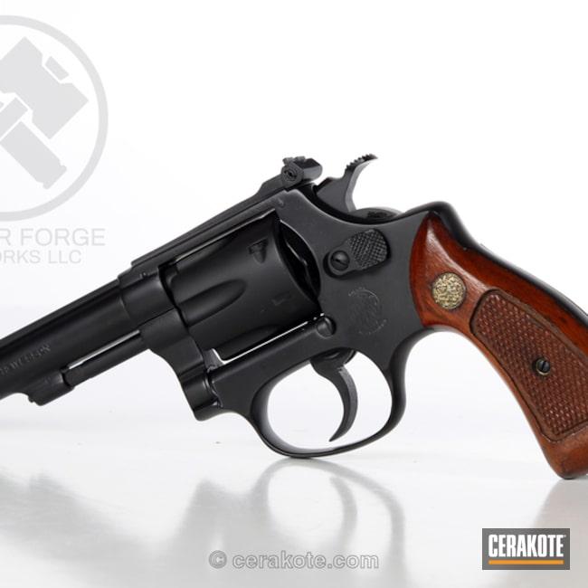 Cerakoted: Graphite Black H-146,Smith & Wesson,Revolver,Restoration