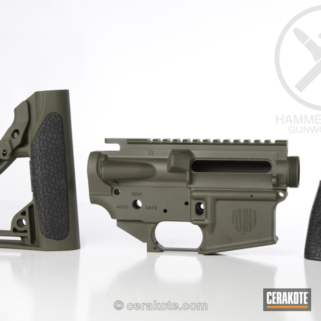 Daniel Defense Gun Parts in Mil Spec O.D. Green