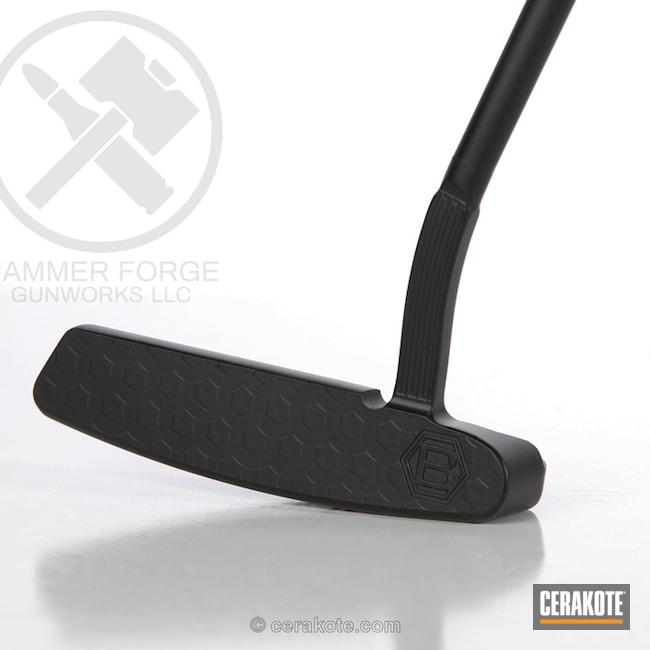 Cerakoted Golf Putter Refinished In Graphite Black