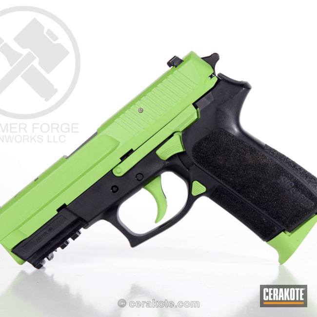 Cerakoted: Graphite Black H-146,Two Tone,Zombie Green H-168,Sig SP2022,Pistol,Sig Sauer