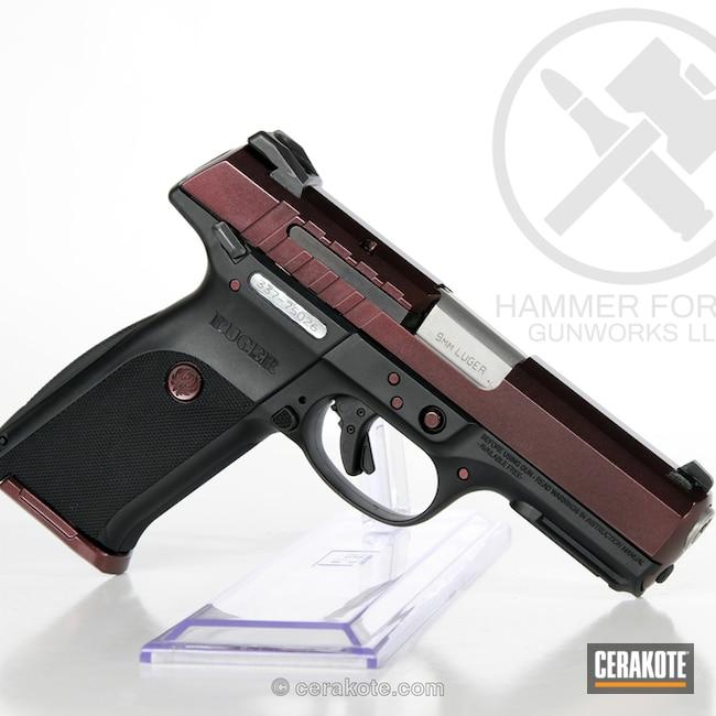 Cerakoted: Ruger,Graphite Black H-146,Custom Finish,Pistol,HIGH GLOSS ARMOR CLEAR H-300