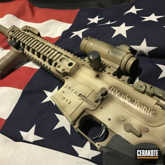 Cerakoted: Join Or Die,Tactical Rifle,Flat Dark Earth H-265