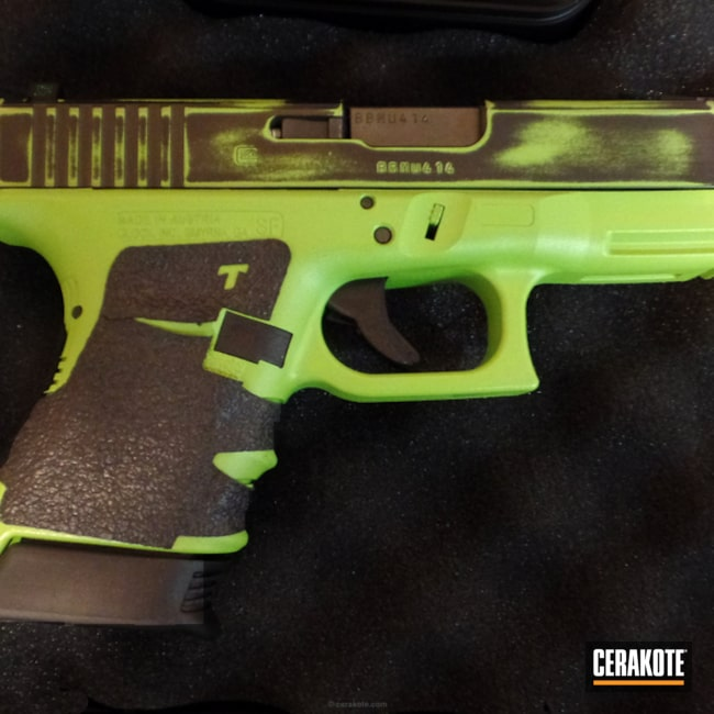 Cerakoted: Zombie Killer,Graphite Black H-146,Distressed,Zombie Green H-168,Pistol,Glock,Glock 30S