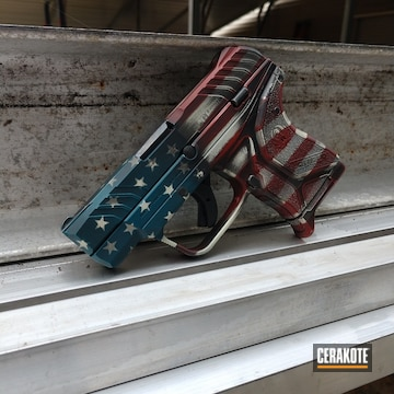 Cerakoted Ruger Lcp Ii In An American Flag Finish
