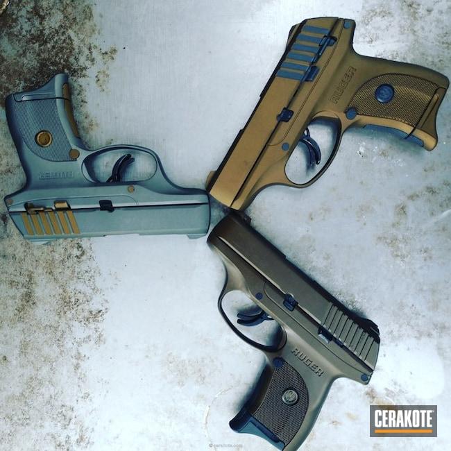 Cerakoted: Ruger,Glock Grey H-184,Graphite Black H-146,Burnt Bronze H-148,Titanium H-170,Midnight Bronze H-294,Pistols