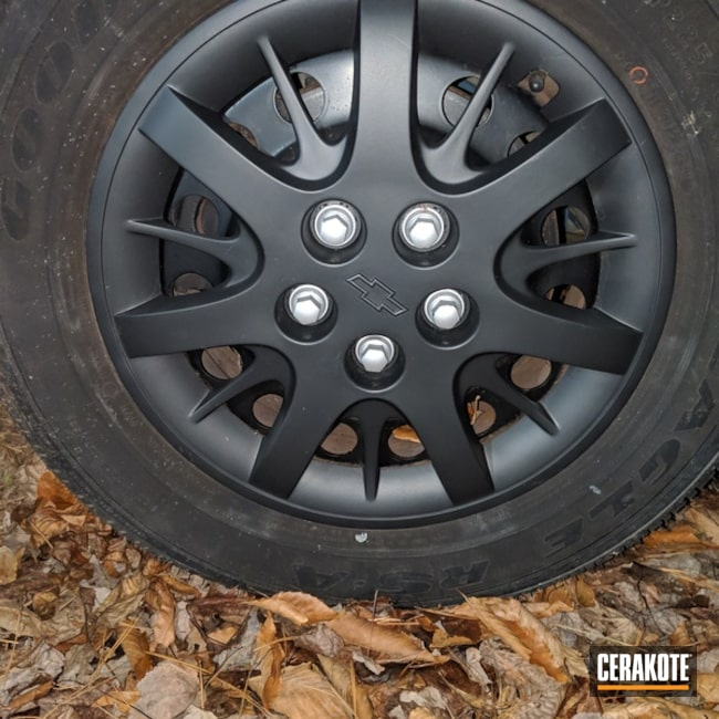 Cerakoted: Graphite Black C-102,Chevy,More Than Guns,Automotive,High Temperature Coating,Wheels