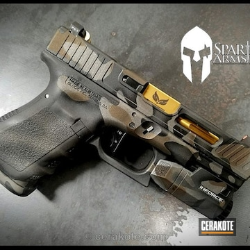 Cerakoted Custom Milled Glock Handgun In A Multicam Finish