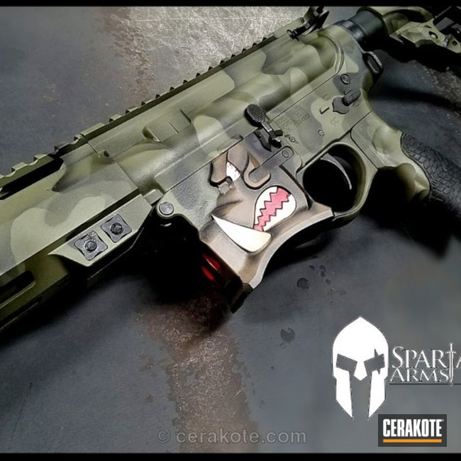 Cerakoted: Bright White H-140,MultiCam,Spike's Tactical,Graphite Black H-146,USMC Red H-167,Forest Green H-248,MAGPUL® O.D. GREEN H-232,Spike's Tactical Warthog,Warthog