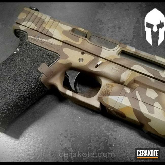 Cerakoted: Custom Milling,FS BROWN SAND H-30372,MultiCam,Stippled,Pistol,Glock,Chocolate Brown H-258