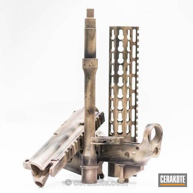 Cerakoted: Fuzil,Graphite Black H-146,BARRETT® BRONZE H-259,Distressed,Desert Sand H-199,Gun Parts,Cerakoteado,AR-15