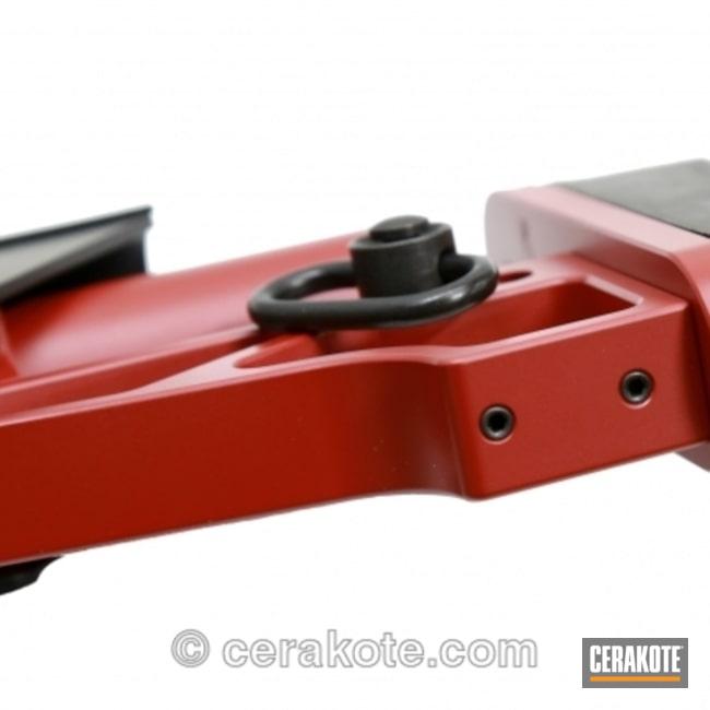 Cerakoted: Bolt Action Rifle,Graphite Black H-146,Two Tone,Crimson H-221