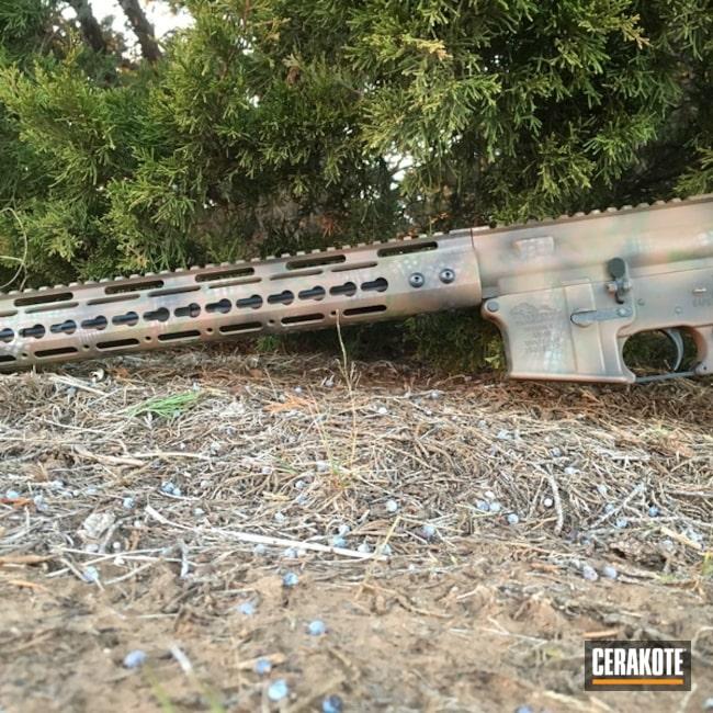 Cerakoted: Custom Mix,Anderson Mfg.,Mil Spec O.D. Green H-240,Tactical Rifle,Custom Camo,Chocolate Brown H-258
