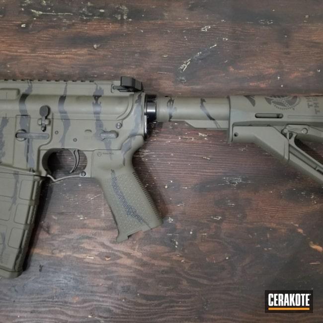 Cerakoted: Tiger Stripes,Anderson Mfg.,Bear Creek Arsenal,Graphite Black H-146,Tactical Rifle,O.D. Green H-236,USMC