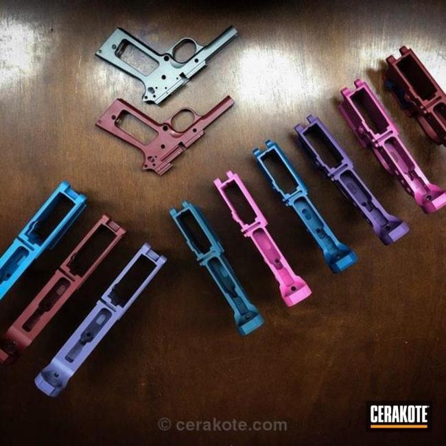 Cerakoted: Sea Blue H-172,Lower,Stainless H-152,Crimson H-221,Prison Pink H-141,Pastel Purple H-138,Sky Blue H-169