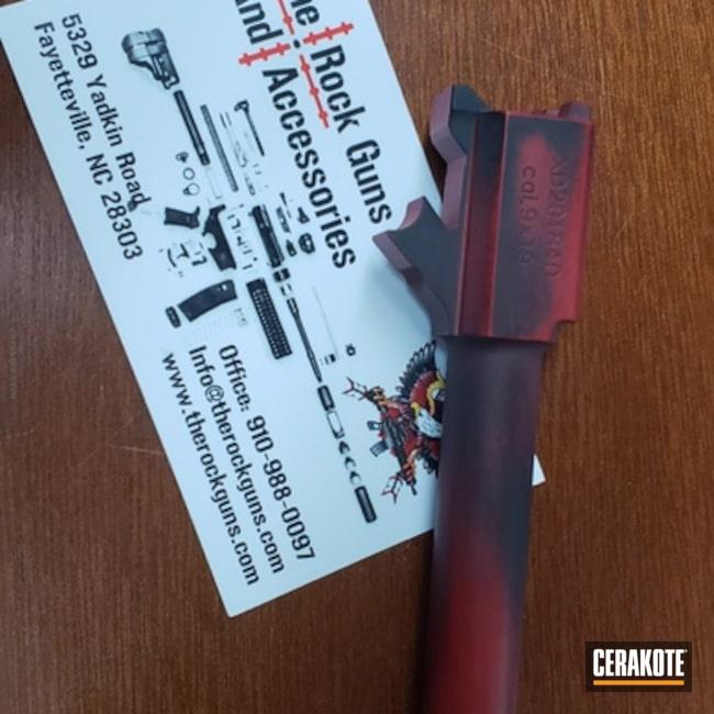 Cerakoted: FIREHOUSE RED H-216,Graphite Black H-146,Distressed,Barrel