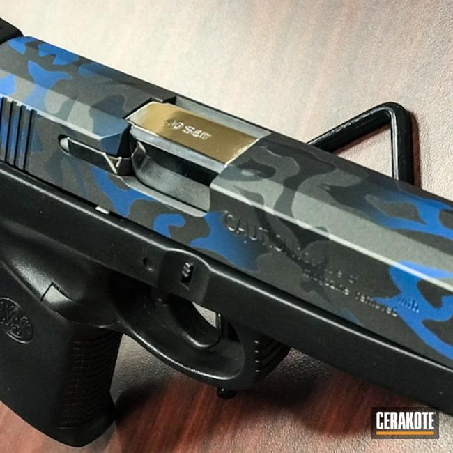 Cerakoted: NRA Blue H-171,MultiCam,Graphite Black H-146,Smith & Wesson,Camo,Gun Metal Grey H-219,Pistol,Custom Camo