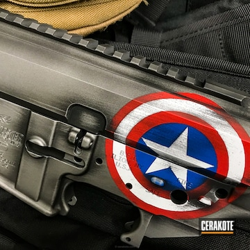 Cerakoted Captain America Themed Upper / Lower