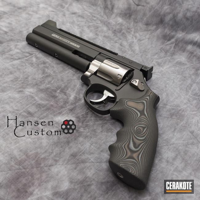 Cerakoted: Custom Mix,Target Pistol,Graphite Black H-146,Revolver,Armor Black H-190,.38 S&W Special