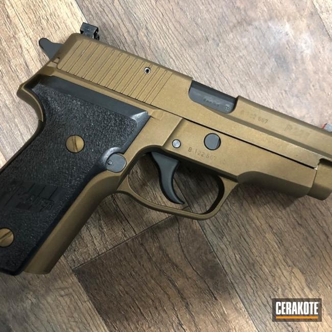 Cerakoted: Graphite Black H-146,Burnt Bronze H-148,Pistol,Sig Sauer,Sig 228