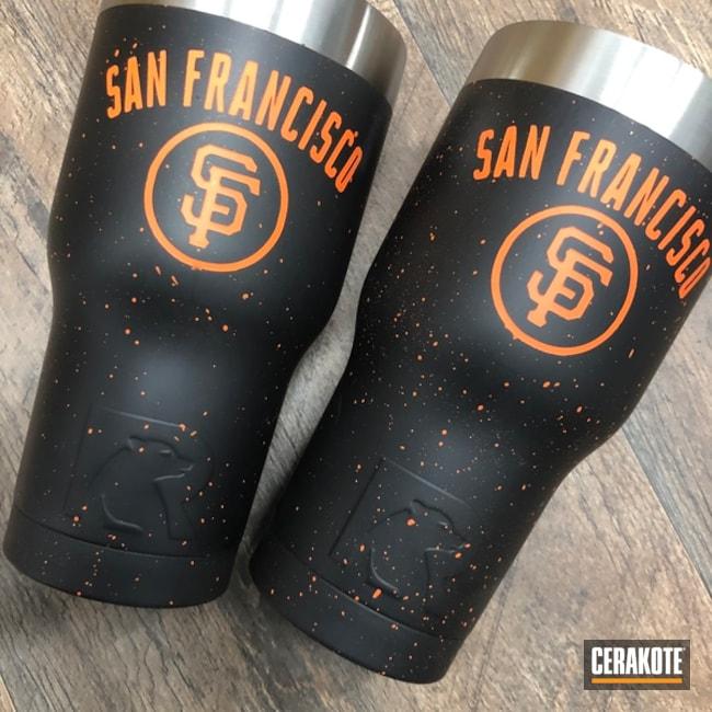 Cerakoted: Graphite Black H-146,RTIC Tumbler,SF Giants,More Than Guns,San Francisco,Custom Tumbler Cup,Hunter Orange H-128,MLB,Tumbler
