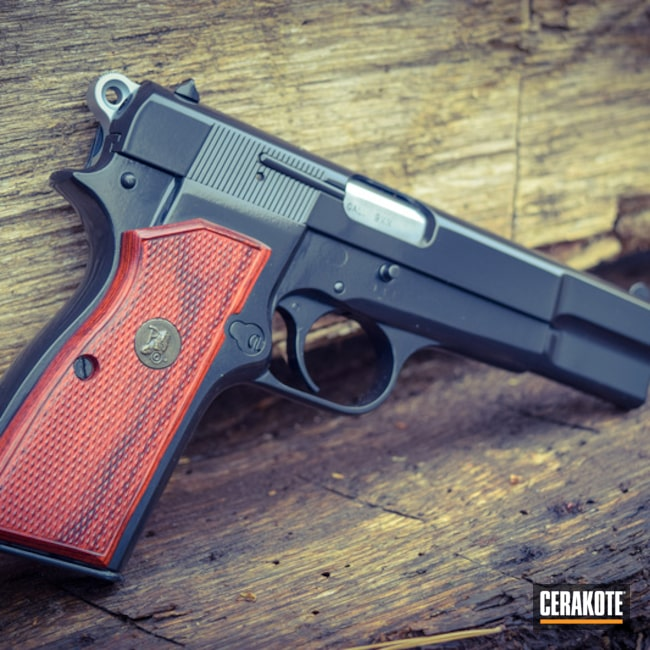 Cerakoted: Browning Hi-Power,Gloss Black H-109,Browning,Pistol,1911