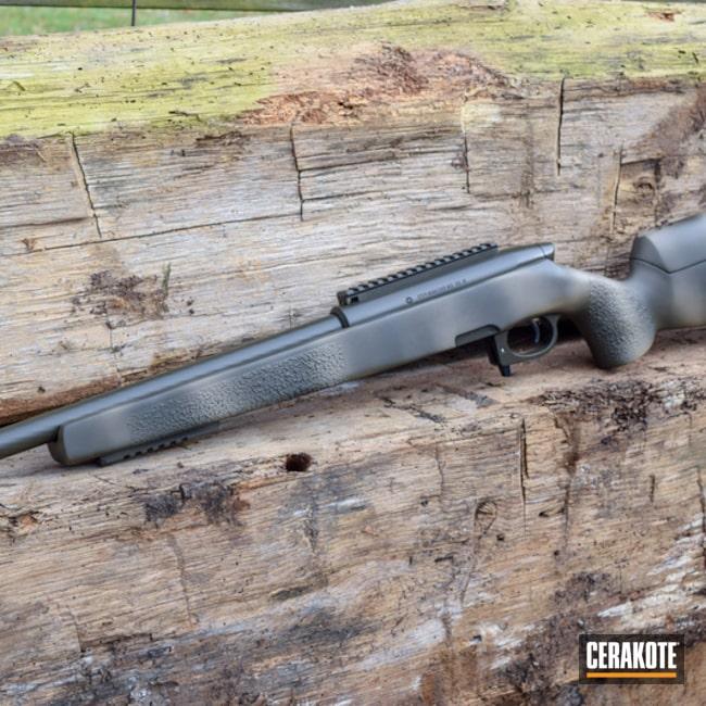 Cerakoted: Bolt Action Rifle,McMillan,Freehand Camo,Desert Sand H-199,MAGPUL® O.D. GREEN H-232,Steyr
