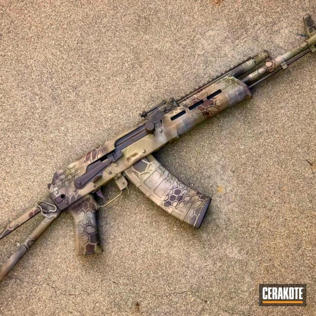 Cerakoted: Custom Mix,Kryptek,BARRETT® BRONZE H-259,AK-47,AK Rifle