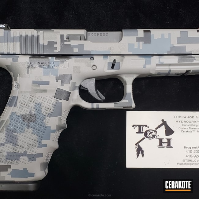 Cerakoted: Glock 21,Glock Grey H-184,Digital Camo,Graphite Black H-146,GLOCK® GREY H-184,Pistol,Glock