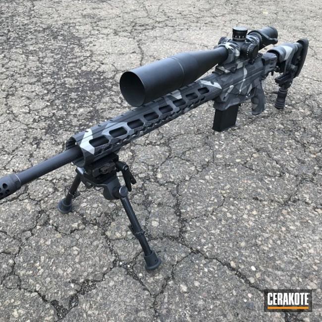 Cerakoted: Bolt Action Rifle,Stone Grey H-262,Ruger,Ruger Precision 6.5,Splinter Camo