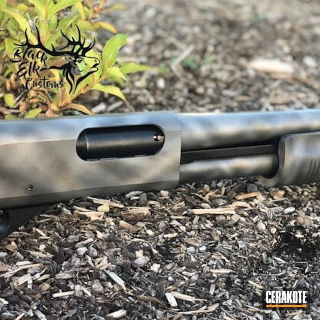 Cerakoted: Sniper Grey H-234,Tactical Shotgun,Shotgun,Graphite Black H-146,Tungsten H-237,Custom Camo