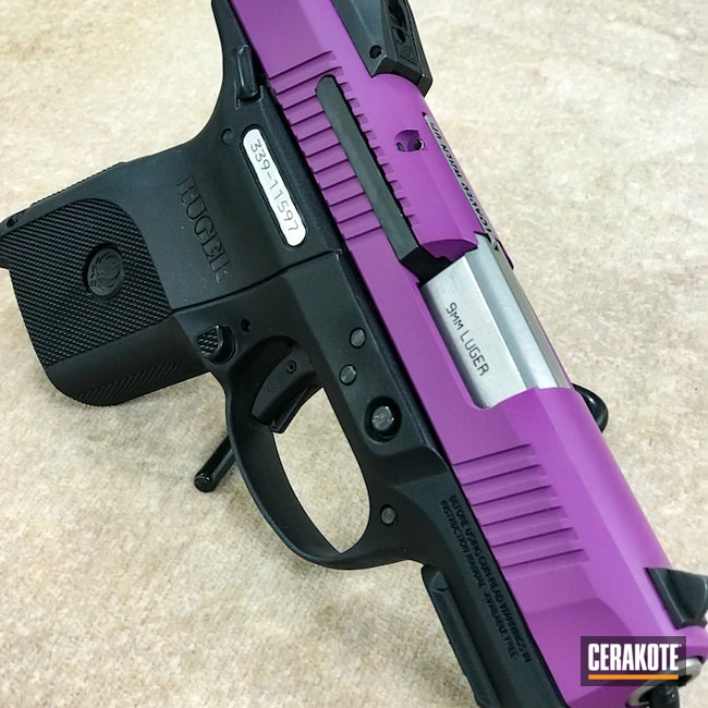 Cerakoted: Ruger,Two Tone,Wild Purple H-197,Pistol