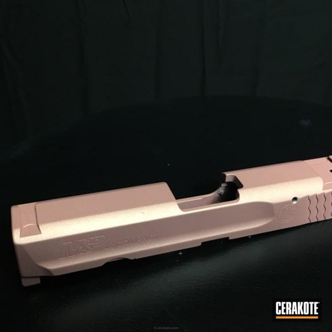 Cerakoted: Smith & Wesson,Rose Gold,Satin Aluminum H-151,Prison Pink H-141,Slide,Gold H-122