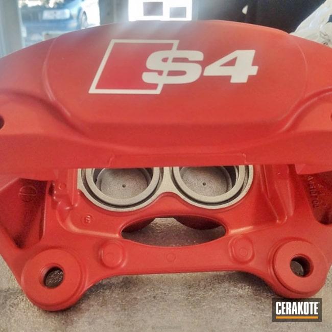 Cerakoted: FIREHOUSE RED H-216,Brake Caliper,More Than Guns,Automotive