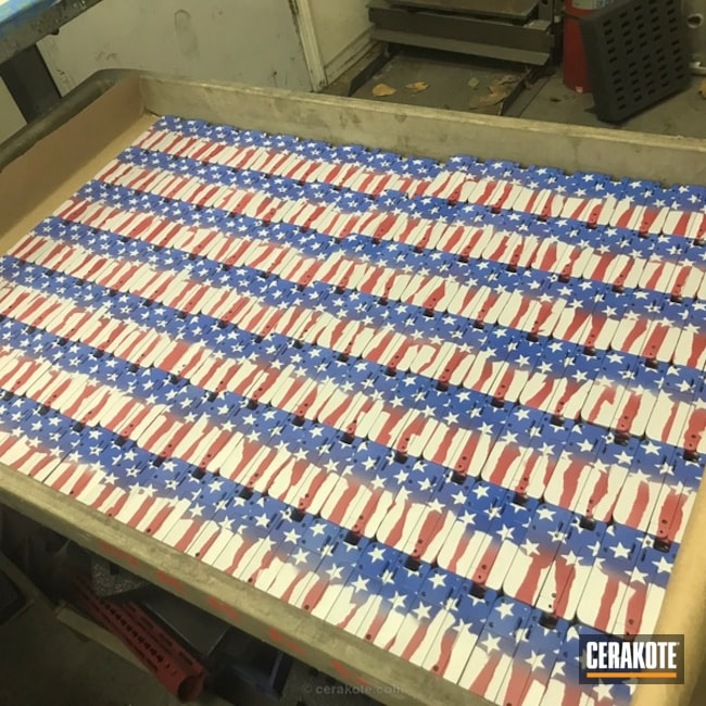 Cerakoted: Patriotic,NRA Blue H-171,Trailblazer Firearms,Rimfire,USMC Red H-167,American Flag,LifeCard,Production,Production Run