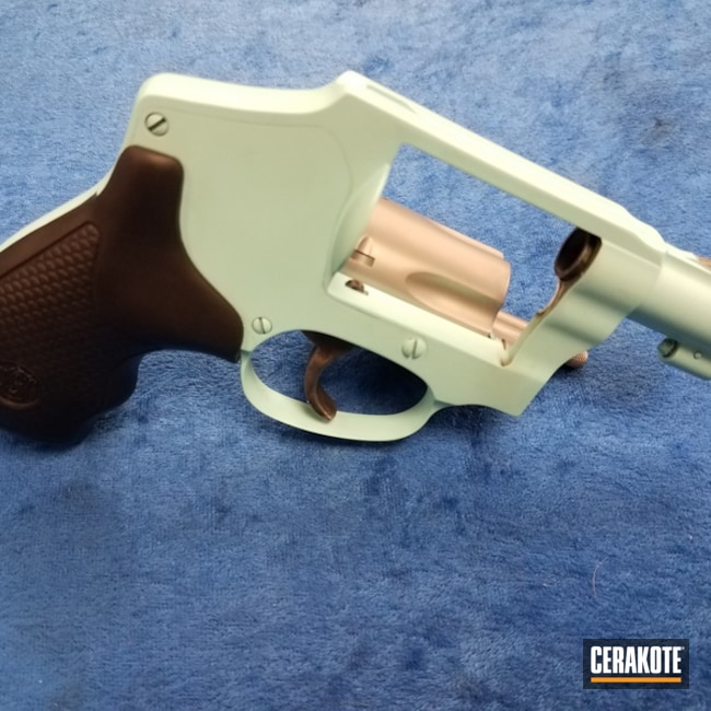Cerakoted: Robin's Egg Blue H-175,Two Tone,Smith & Wesson,Revolver,SAVAGE® STAINLESS H-150