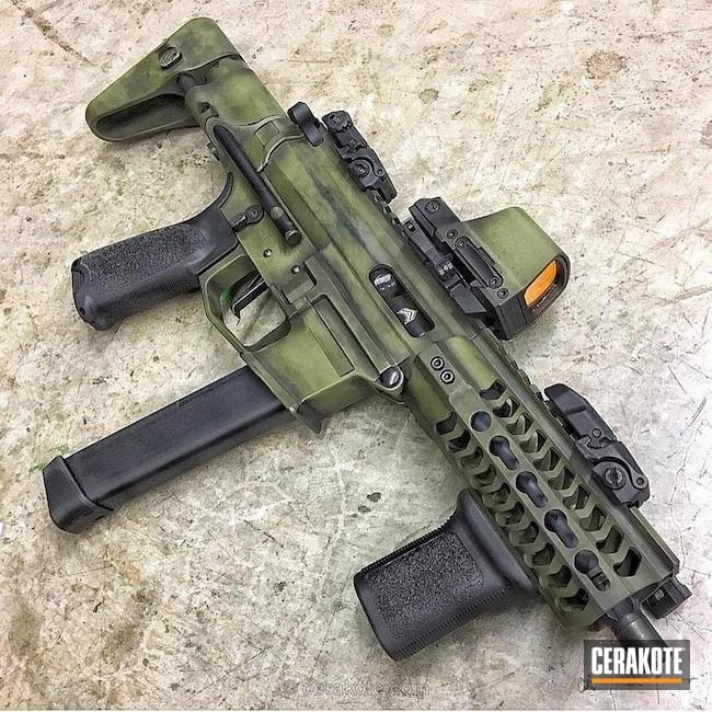 Cerakoted: AR Pistol,Battleworn,Graphite Black H-146,SBR,Noveske Bazooka Green H-189,MAGPUL® O.D. GREEN H-232