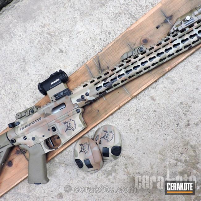 Cerakoted: Plastic Cerakote,Custom Logo,.22LR,Tactical Rifle,Matching Set,HAZEL GREEN H-204,MultiCam,Smith & Wesson,Federal Brown H-212,Peltor,Copper Brown H-149,Chocolate Brown H-258,AR-15