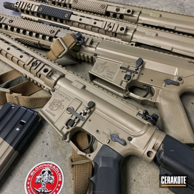 Cerakoted: KAC,MAGPUL® FLAT DARK EARTH H-267,Tactical Rifle,Knights Armament,Stoner Rifle