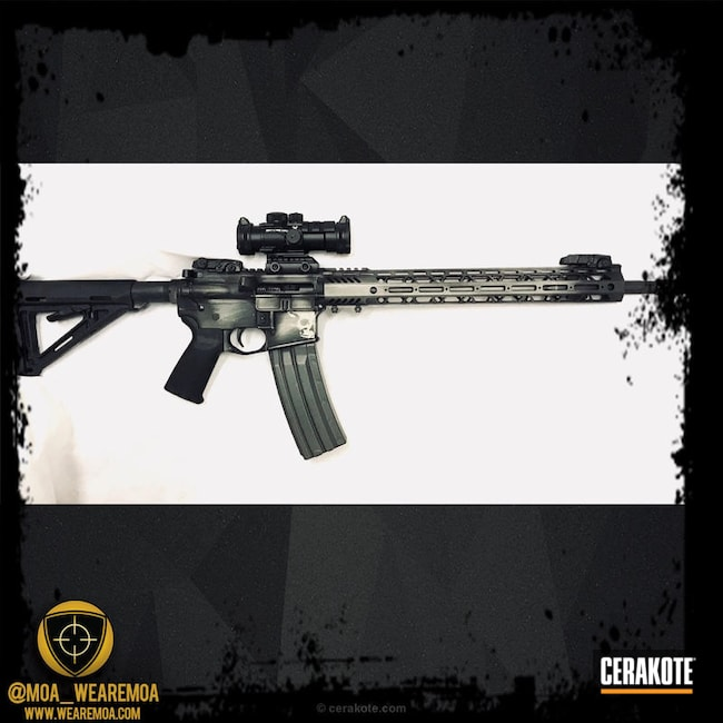 Cerakoted: Palmetto State Armory,Graphite Black H-146,Tungsten H-237,Tactical Rifle,AR 80%,80% Lower