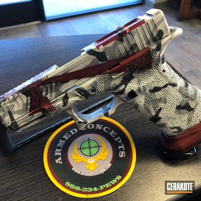 Cerakoted: Bright White H-140,Sniper Grey H-234,Steel Grey H-139,MultiCam,Graphite Black H-146,Crimson H-221,Pistol,Glock