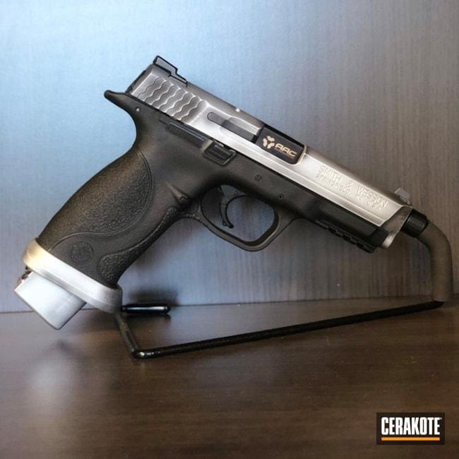 Cerakoted: Battleworn,Graphite Black H-146,Smith & Wesson,Satin Aluminum H-151,Pistol