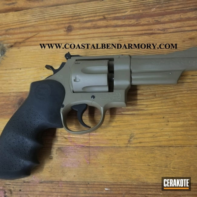 "Thumbnail image for project ""Taurus Revolver in MagPul Flat Dark Earth and Graphite Black"""