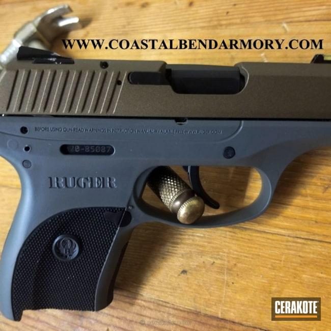 Cerakoted: Ruger,Graphite Black H-146,Burnt Bronze H-148,Pistol,Concrete E-160,Concrete E-160G,Ruger LC9