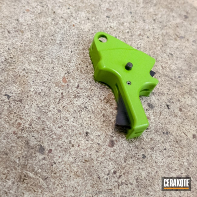 Cerakoted: Zombie Green H-168,Apex Tactical Trigger