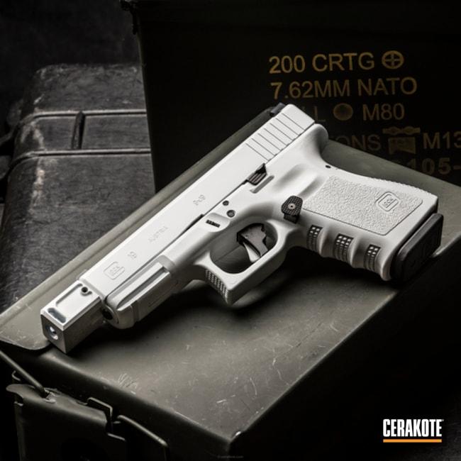Cerakoted: Glock 19,Stormtrooper White H-297,Pistol,Glock,Apex Trigger