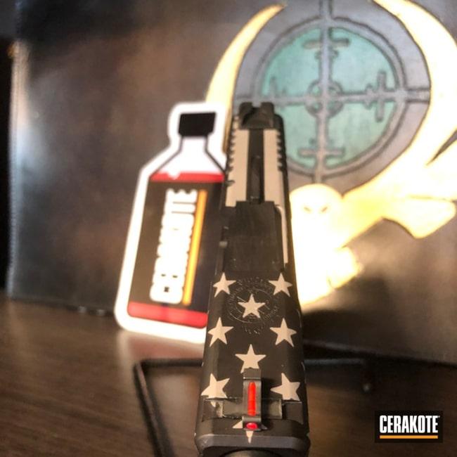Cerakoted: Steel Grey H-139,Springfield XD,Armor Black H-190,Pistol,American Flag,Springfield Armory