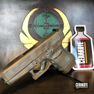Cerakoted Copper Patina Finished Glock 36 Handgun
